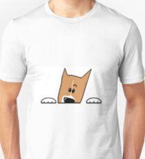 basenji peeking Unisex T-Shirt