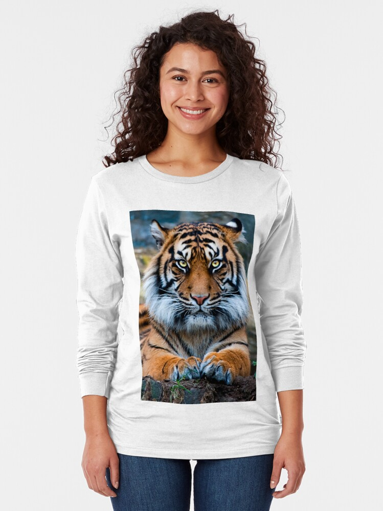 Alternate view of Sumatran Tiger Long Sleeve T-Shirt