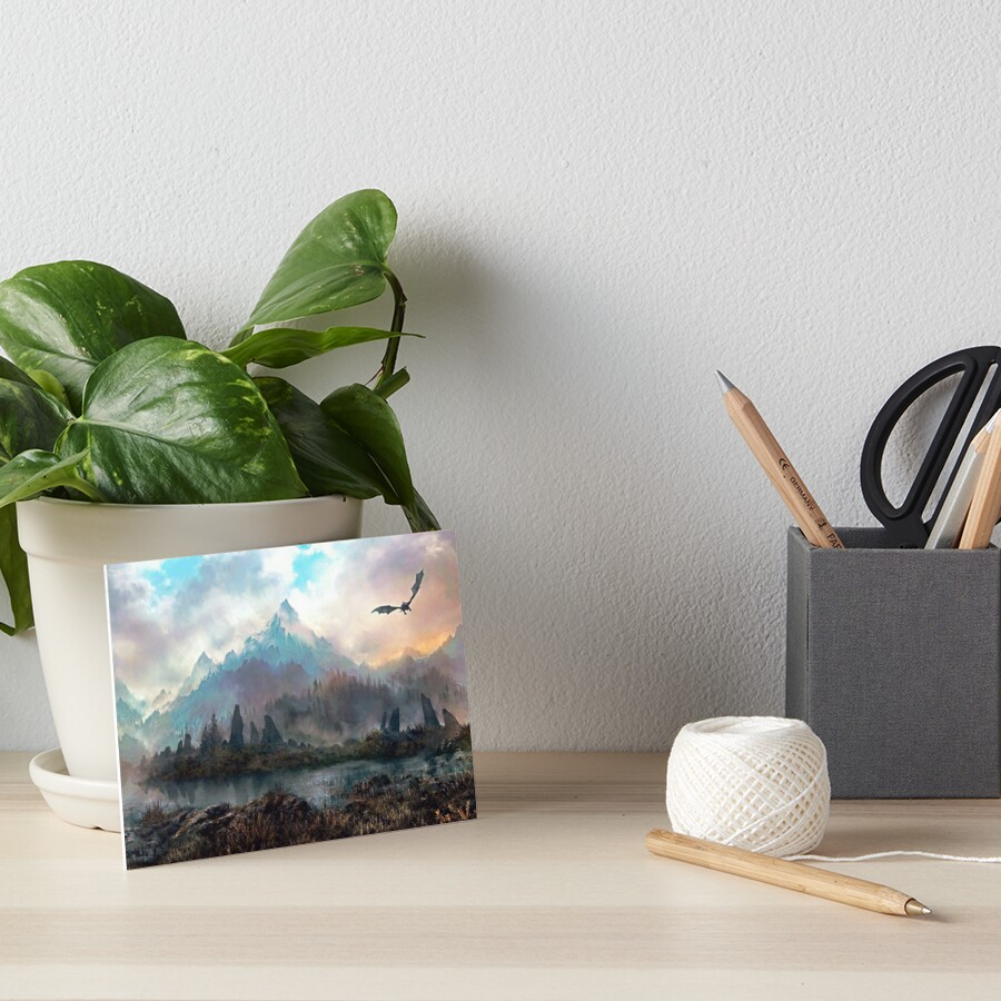 Dragon Mountain Art Board Print