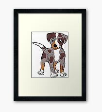 CLD red merle cartoon Framed Print