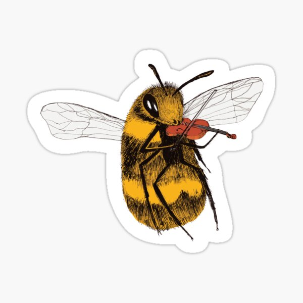 Talented Bee Glossy Sticker