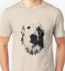 Who Me? Funny Dog Expressions. Golden Retriever Images. Unisex T-Shirt