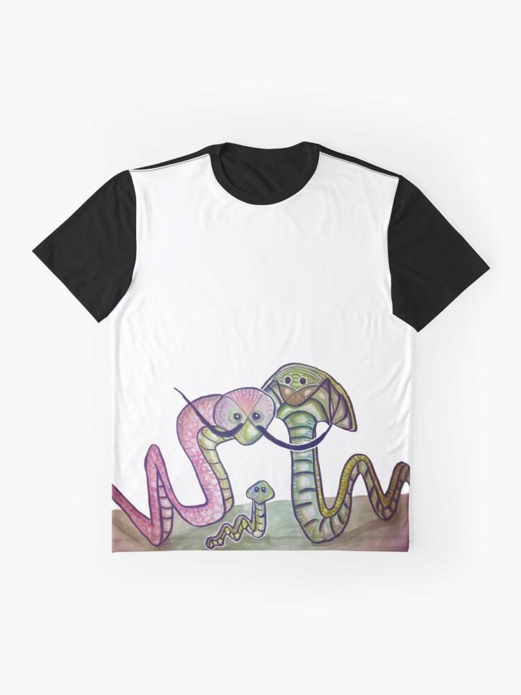 Vista alternativa de Camiseta gráfica Mind Worms