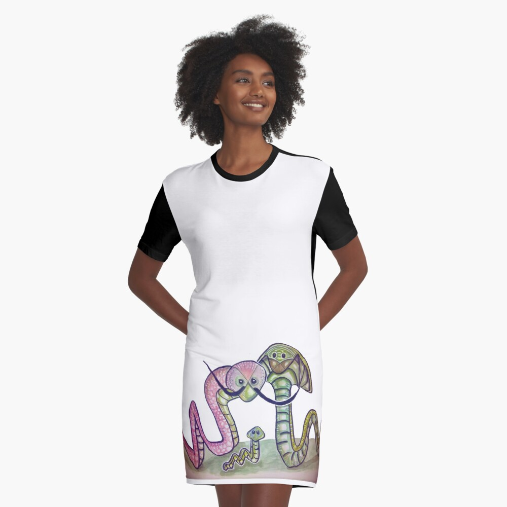 Mind Worms Vestido camiseta