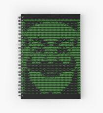 Cuaderno de espiral Mr Robot fsociety Mask in Code (como se ve en Social Engineers Toolkit)
