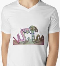 Mind Worms Camiseta de cuello en V