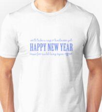 Happy New Year - Auld Lan Syne Lyrics T-Shirt
