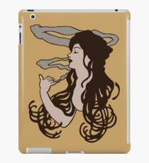 mucha smoke girl job iPad Case/Skin