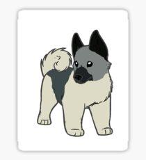 norwegian elkhound cartoon Sticker