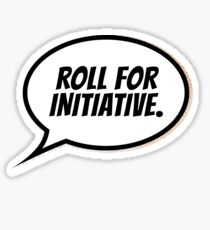 Roll for Initiative Sticker