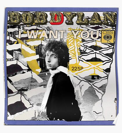 Bob Dylan Abstract variation Poster