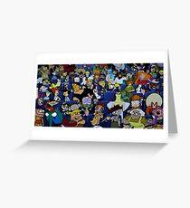 old cartoon network Greeting Card
