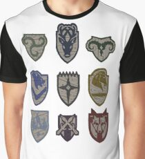 Skyrim Hold Logos Graphic T-Shirt