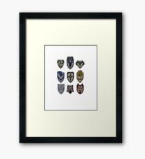 Skyrim Hold Logos Framed Print
