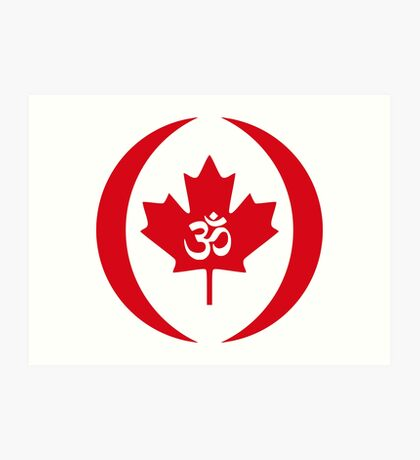 Hindu Canadian Multinational Patriot Flag Series Art Print