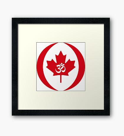 Hindu Canadian Multinational Patriot Flag Series Framed Print