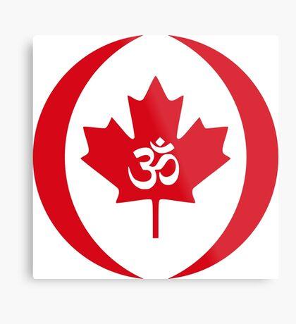 Hindu Canadian Multinational Patriot Flag Series Metal Print