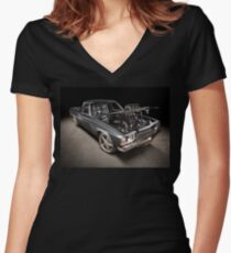 Craig Craft's Holden HJ Kingswood Ute Women's Fitted V-Neck T-Shirt