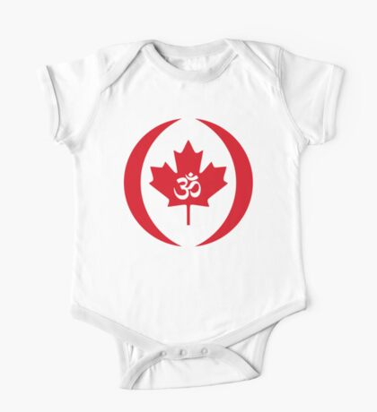 Hindu Canadian Multinational Patriot Flag Series Kids Clothes