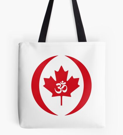 Hindu Canadian Multinational Patriot Flag Series Tote Bag