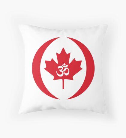Hindu Canadian Multinational Patriot Flag Series Throw Pillow