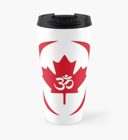 Hindu Canadian Multinational Patriot Flag Series Travel Mug