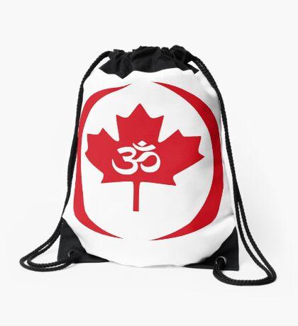 Hindu Canadian Multinational Patriot Flag Series Drawstring Bag
