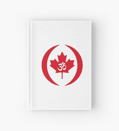 Hindu Canadian Multinational Patriot Flag Series Hardcover Journal