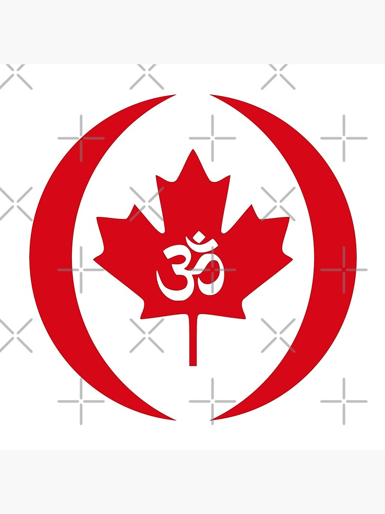 Hindu Canadian Multinational Patriot Flag Series by carbonfibreme