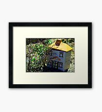 Cookie Jar in Garden Framed Print