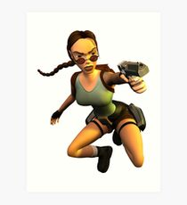 LARA CROFT (The Last Revelation) Art Print