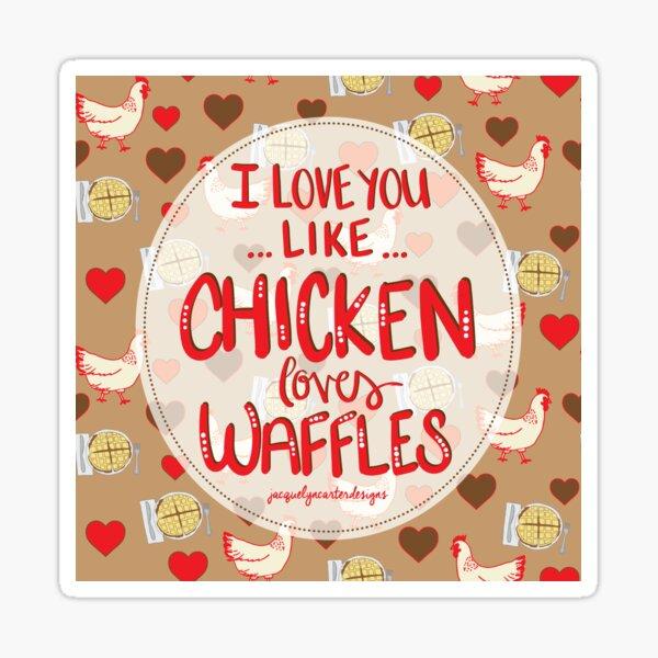 Chicken & Waffles Sticker