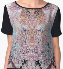 The Lungs of the Earth - Pink, Black and Turquoise Chiffon Top