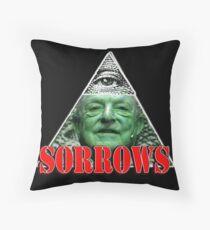 Shadow of Sorrows Throw Pillow