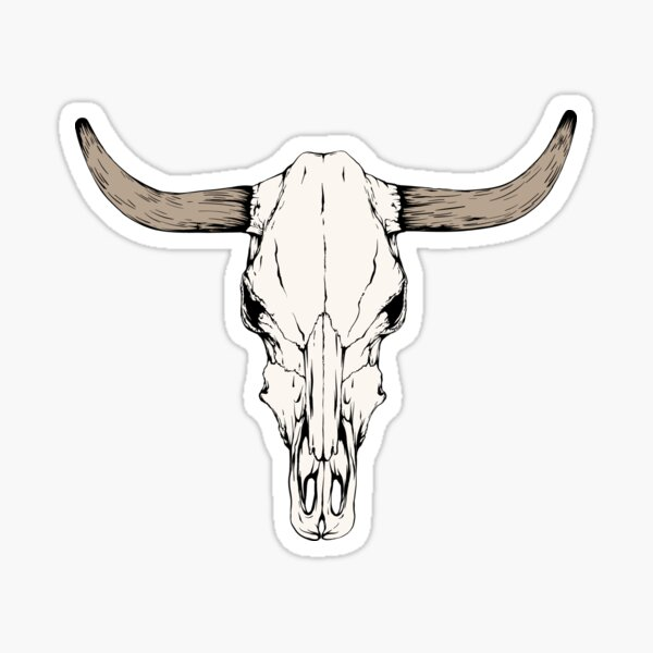 Cow Skull Sticker