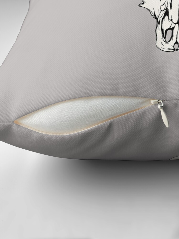 Alternate view of Cow Skull Throw Pillow