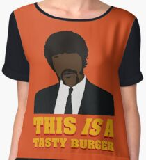 This is a tasty burger. Chiffon Top