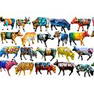 Art Cows by tank