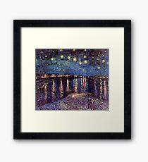 Starry Night over the Rhone, Vincent van Gogh. Framed Print