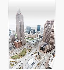 Cleveland Ohio From Above  Poster