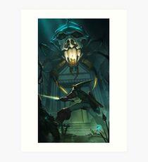 OoT: Skulltula vs Link Art Print