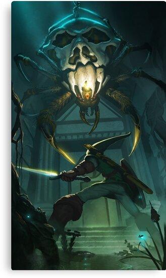 OoT: Skulltula vs Link by Jofiel
