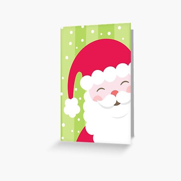 Cheerful Santa Card Greeting Card