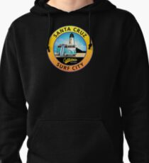 Santa Cruz Surf City California CA Light House Van Pullover Hoodie