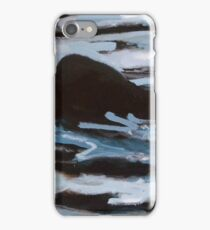"""Angus in the lake, 12x12""""m oil on wood, 2011 iPhone Case/Skin"""