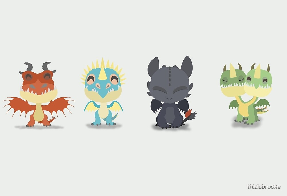 """Tiny Dragons """"How To Train Your Dragon"""" by thisisbrooke"""