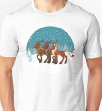 Reindeer in the Snow T-Shirt