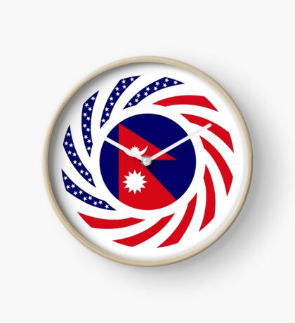 Nepalese American Multinational Patriot Flag Series Clock