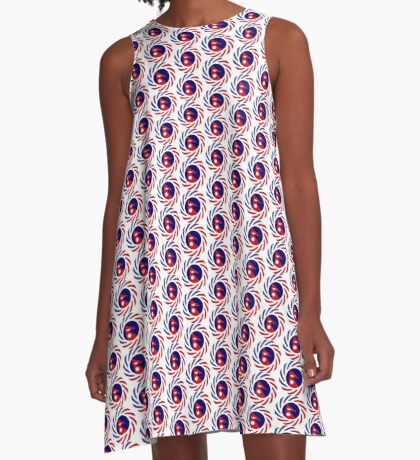 Nepalese American Multinational Patriot Flag Series A-Line Dress
