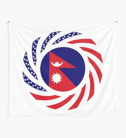 Nepalese American Multinational Patriot Flag Series Wall Tapestry